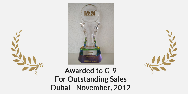 Awarded to G-9