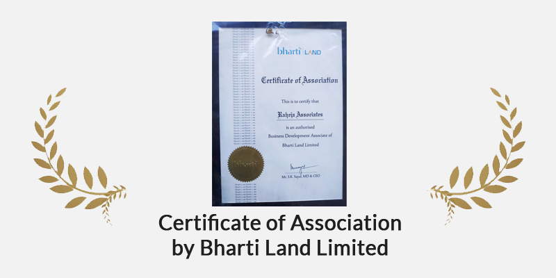 Certificate of Association by Bharti Land Limited